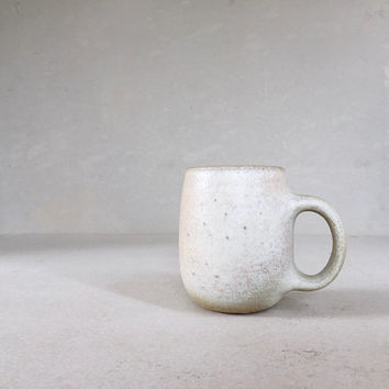 WHITE RUSTIC MUG bottom-handle, ceramic, pottery, handmade, rustic, coffeemug, coffee mug, cup, handmademug, potterymug, whitemug, sturdy
