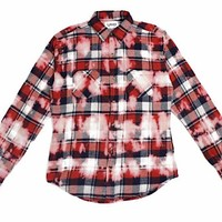 Seth Tie Dye Flannel (Red)
