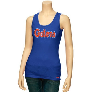 Florida Gators Ladies Royal Blue Script Tank Top