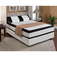 "Emerald Home Furnishings 12"" Cool Jewel Starlight Gel Memory Foam Mattress"