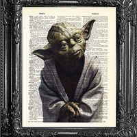 Y2 Yoda home gift- Poster Gift For Him-Star Wars Art-Star Wars Poster Print-ANNIVERSARY Gift Man-Husband GIFT BIRTHDAY Gift Boyfriend