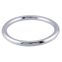 Sterling Silver Rhodium-Plated Hollow Round Bangle Bracelet Custom Made