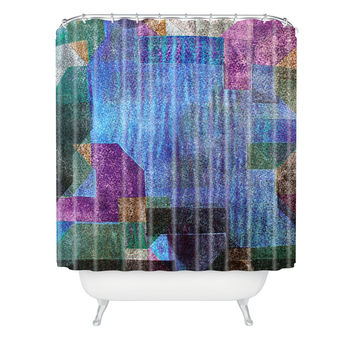 Triangle Footprint Ca1 Shower Curtain