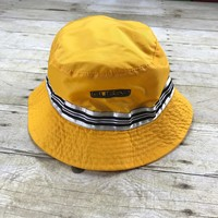 Vintage 90s GUESS Sample Yellow Nylon Bucket Hat