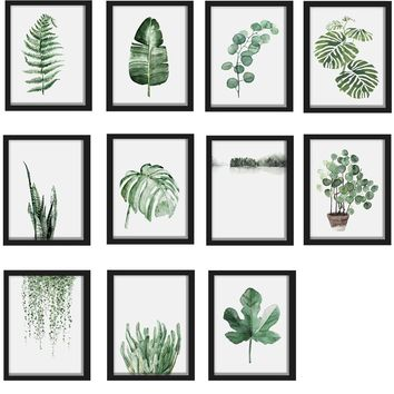 15*20cm Cactus Plants Canvas Poster Picture Print Nordic Minimalist Art Wall Decor