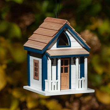 Mind Your Manners Cabin Birdhouse