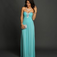 Tambrey- Light Blue Formal Dress