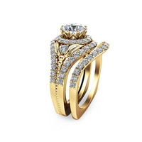 Special Reserved - 14K Yellow Gold Moissanite Engagement Set - 1st payment