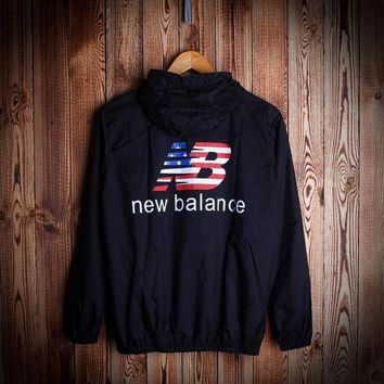 DCCK1IN fashion unisex new balance hooded jacket lightweight christmas gift