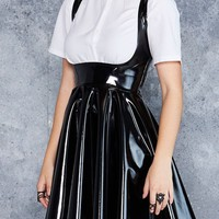 SHOW US YA TOPS PVC UNDERBUST DRESS