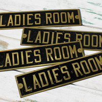 "Vintage ""Ladies Room"" Sign, Restroom, Powder Room, Bathroom"