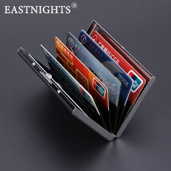 EASTNIGHTS 2017 new arrival High-Grade stainless steel men credit card holder women metal bank card case card box TW2703