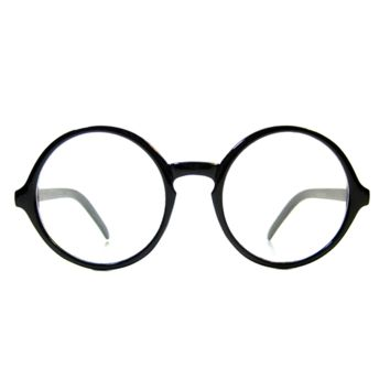 Round Vintage Wizard Retro Clear Glasses