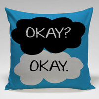 the fault in our star okay Square Pillow Case Custom Zippered Pillow Case one side and two side
