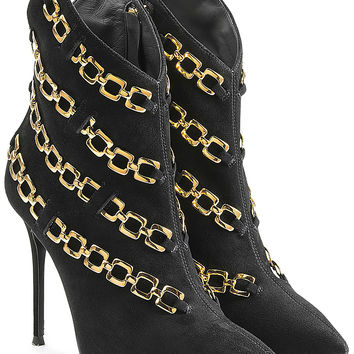 Giuseppe Zanotti - Chain Embellished Suede Ankle Boots