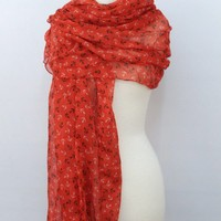 Anchor Scarf - Red