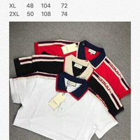 Gucci shoulder strap webbing pearl cotton Polo shirt