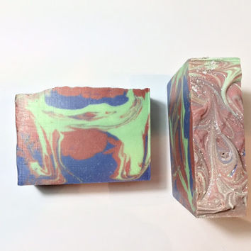 Harmony Garden Soap, Sage Herb Soap, Cold Process Soap, Flower Soap, Unisex Soap, Homemade Soap, Handmade Soap, Tonic Soap, Mint Soap