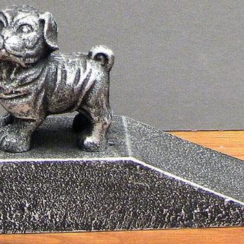 Cast Iron Dog Door Stop Figurine