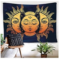 Happy Sun & Moon Tapestry  51x59in