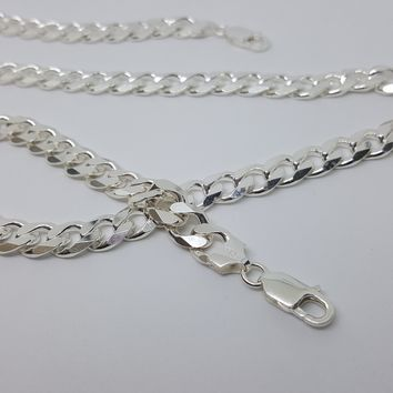 2-2803-g10 C250 Sterling Silver Italian Cuban Link, 10mm Wide, available in chain and bracelet.