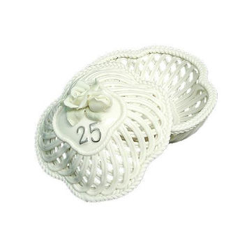 25th Anniversary Trinket Basket - Made Of Porcelain