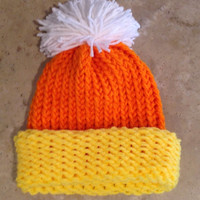 Baby Infant Candy Corn Halloween Knitted Winter Hat