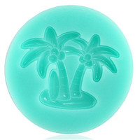 Palm Tree Design Silicone Chocolate Molding Tool (Green)