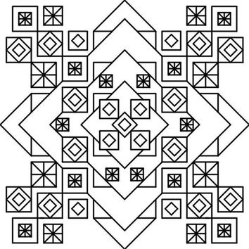 BlackWork The Cube Cross Stitch Pattern PDF Instant Download