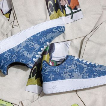 DCCK Air Force 1 X Supreme X LV Denim Edition