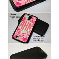 Monogram Samsung Galaxy s4 Case. Custom Lilly Pulitzer Inspired Galaxy Tough Case Samsung s3 Galaxy s4, Samsung Galaxy s5 Custom Case #2321