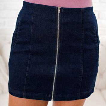 Oh So Fab Denim Skirt (Indigo)