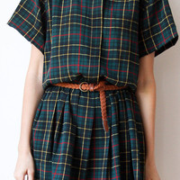 tea and tulips boutique - one of a kind vintage. — pretty plaid dress