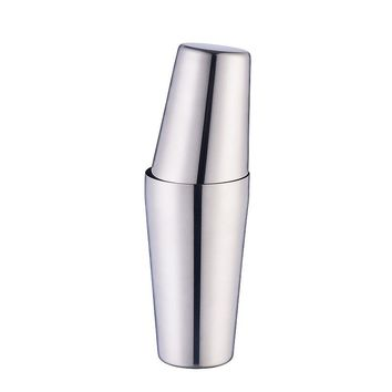 New arrival boston Double shaker bar tools bpa free Stainless steel 304 high-end cocktail shakers (Size: 1350 ml, Color: Silver)