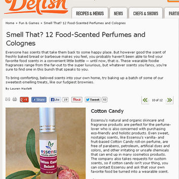 Cotton Candy Natural Roll-On Botanical Perfume Oil | Vegan | Non-Toxic | Gluten Free | Or Customize Scent | As Seen on Delish.com - .35 oz