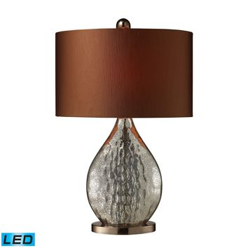 D1889-LED Sovereign LED Table Lamp In Antique Mercury And Coffee Plating - Free Shipping!