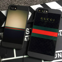 GUCCI iphone7 mobile phone shell mocha iphone8 boom men's anti - diving personality phone case hanging rope