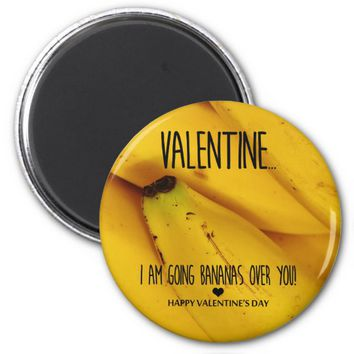 Going bananas over you Valentine's Day Magnet