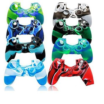 Hot Camouflage Silicone Rubber Skin Grip Cover Case for PlayStation 4 PS4 Controller