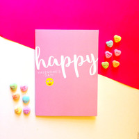 Emoji Valentine's Day Card - Happy Valentine's Day! -  Cute Fun Modern Funny - 5x7