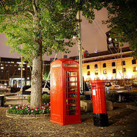 London's Red Phone Box or Phone Booth with a by HConwayPhotography
