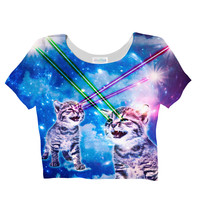 Laser Cat Crop Top