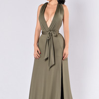 Divine Sorrow Dress - Olive