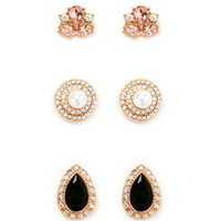 Faux Gem Stud Set | Forever 21 - 1000171309
