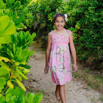 Melon Pink Sunkiss Hawaiian Girl Dress