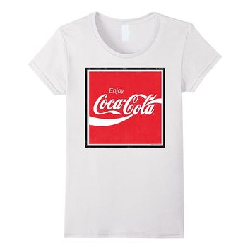 Coca-Cola Red Square Retro Enjoy Logo Graphic T-Shirt