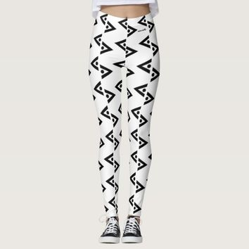 BLACK AND WHITE LEGGINGS ABSTRACT HAVIC ACD