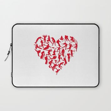 I Love Sports (v1) Laptop Sleeve by Savousepate