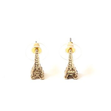 Eiffel Tower Stud Earrings Paris France Gold Tone EE25 Charm Posts Fashion Jewelry