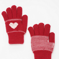 Intarsia Plush-Lined Glove - Urban Outfitters